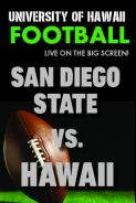 Poster of HAWAII vs. SAN DIEGO STATE  - UH Football
