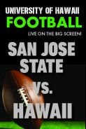 Poster of HAWAII vs. SAN JOSE STATE  - UH Football