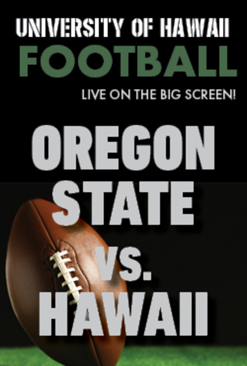 "Movie poster image for ""HAWAII vs. OREGON STATE - UH Football"""