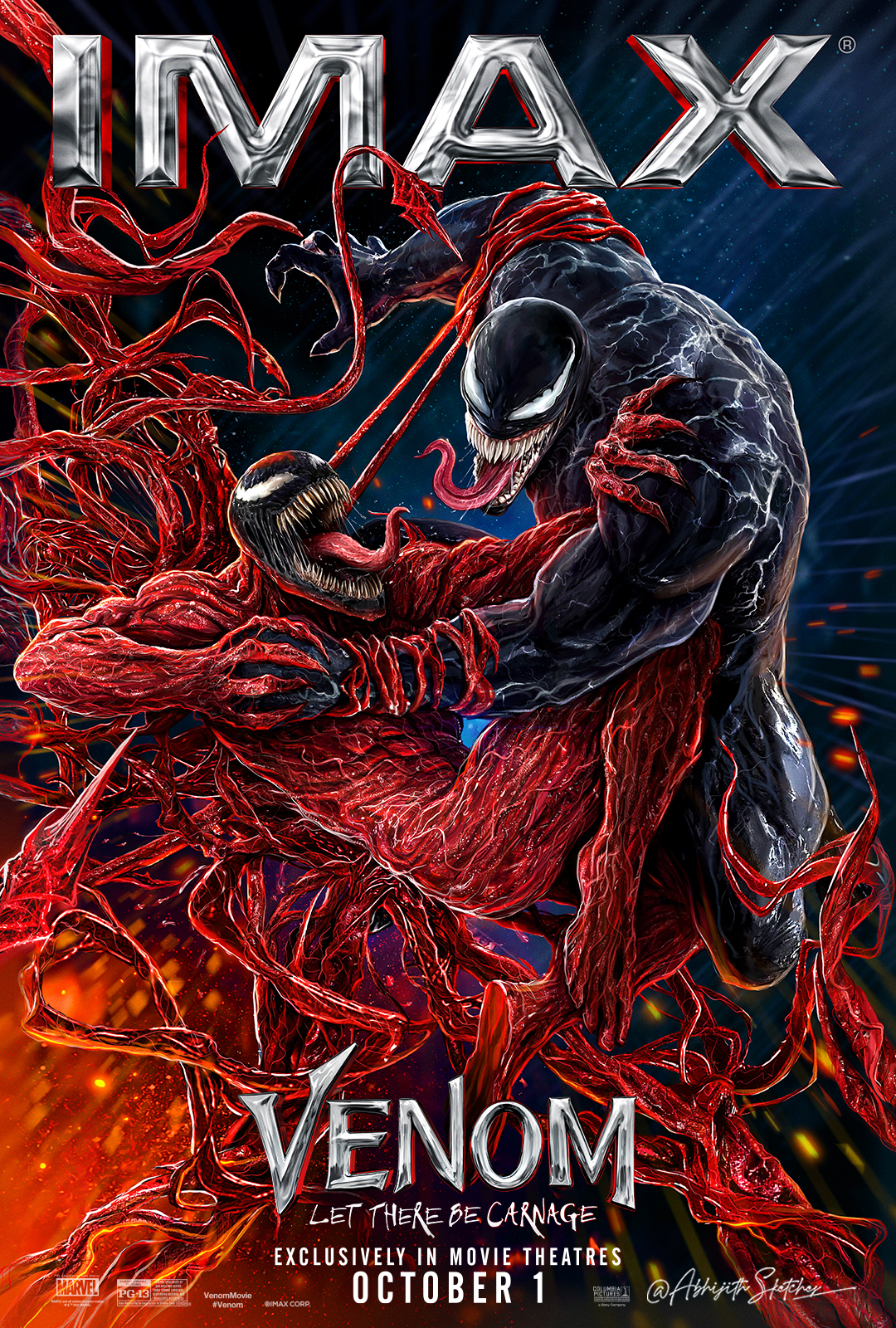 Movie poster image for VENOM: LET THERE BE CARNAGE in IMAX