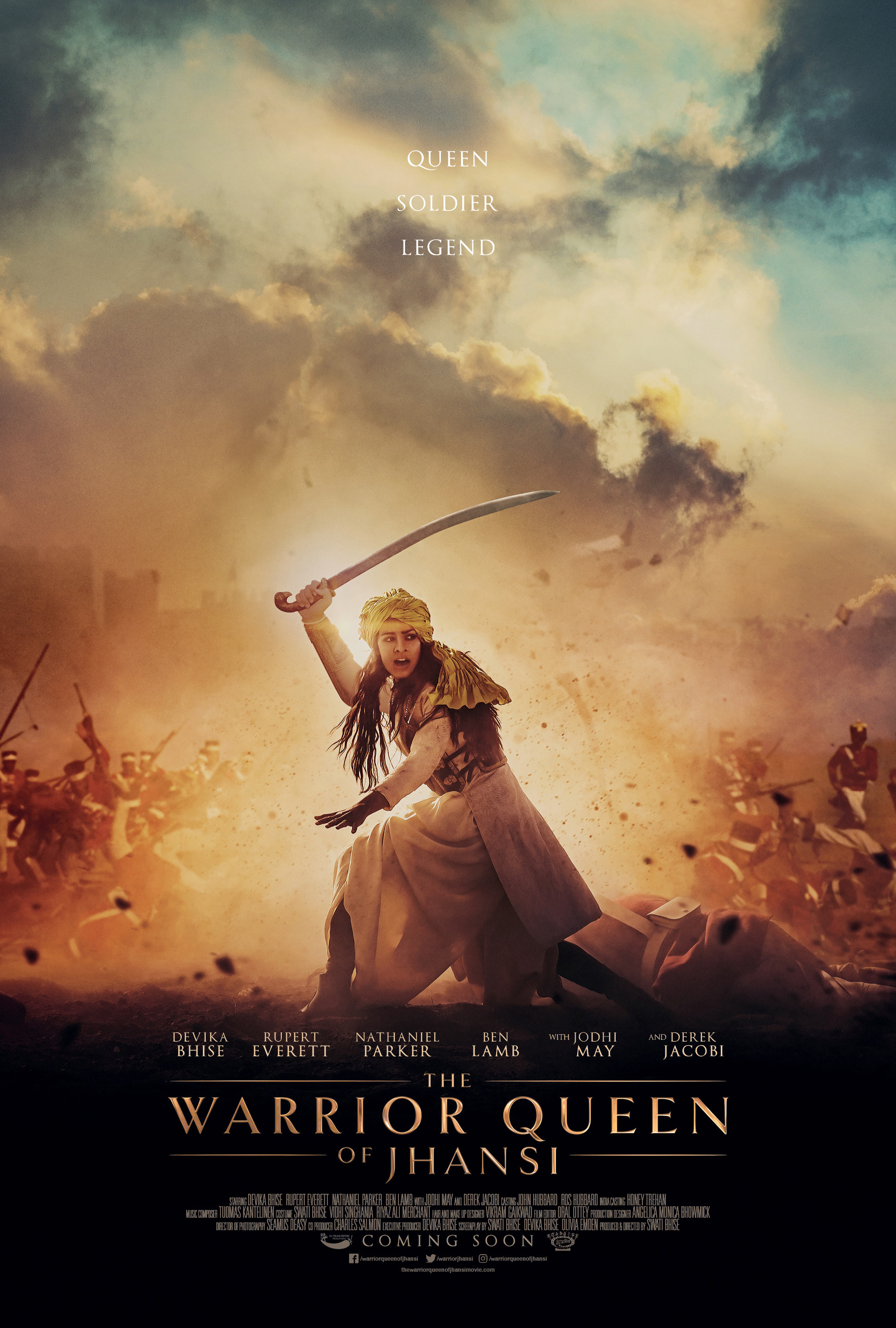 "Movie poster image for ""THE WARRIOR QUEEN OF JHANSI"""
