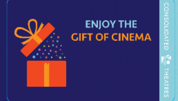 "Image of ""Holidays - Gift of Cinema"" physical gift card design"