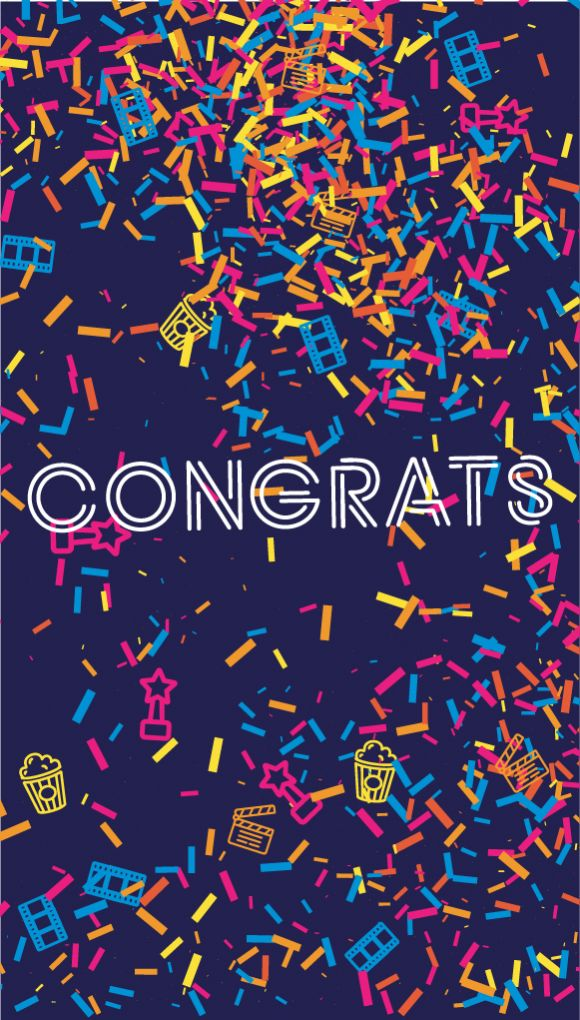 "Image of the ""Congratulations"" e-gift card design"