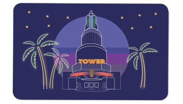 "Image of ""All Occasions - Tower Theatre"" physical gift card design"