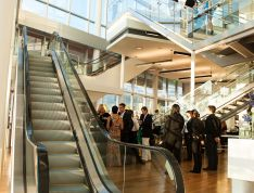 Multi-level Lobby, a type of event space that is offered to host an event in